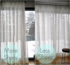 Sheer Curtains Living Room Diy Sheer Sandwich Curtains Dans Le Lakehouse
