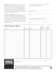 Consignment Form Template Template Consignment Agreement Template Word Inside Artist Gallery 9