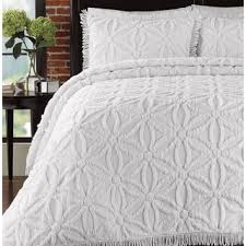 White Quilts & Bedspreads For Less | Overstock.com & LaMont Home Arianna Cotton Chenille Bedspread Set Adamdwight.com