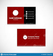 Red Design Company Template Business Card Vector Design Red Background Stock