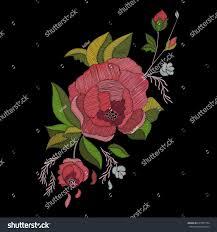 Floral Embroidery Designs Vector Vector Embroidery Design Embroidered Floral Pattern Stock