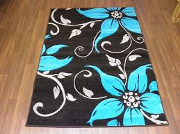 Image Flower Bargain Range Woven Rug Hand Carved Aprox 6x4ft 120x170cm Blackteal Great Rugs Oriental Rug Company Bargain Range Woven Rug Hand Carved Aprox 6x4ft 120x170cm Black Teal
