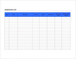 Inventory Count Template Free Printable Checklist Sheet Sample ...