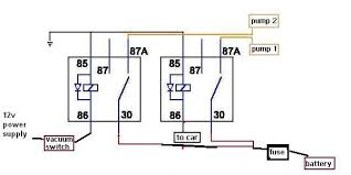 dual fuel pump wiring question evolutionm net dual fuel pump wiring question redone dual pump 2 relays
