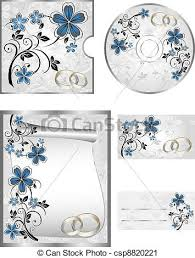 Wedding Cd Labels Wedding Cd Labels On A White Background