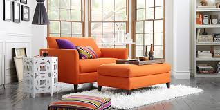 orange chair and a half designing inspiration orange chair and a half chair design ideas