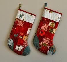 "Free Christmas Stocking Patterns – BOMquilts.com & ""Scrappy Stockings"" designed by Vicki from Sew We Quilt. "" Adamdwight.com"