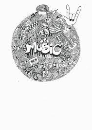 Art Doodle Music Doodle Art Print