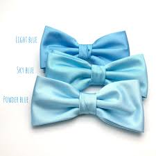 Satin Mens Bow Tie Light Blue Powder Blue Sky Blue Baby Blue Solid ...