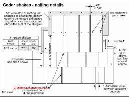 installing cedar shakes. Interesting Cedar Cedar Shake Nailing Pattern C Carson Dunlop Associates On Installing Shakes T