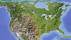 Relief Map Definition History Use