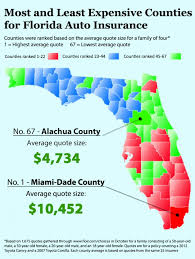 auto insurance florida location and insurance rates florida as a case study insurance