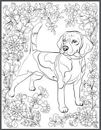 beagle coloring book page
