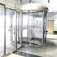 2000 series revolving door with clad constructed wings from crane
