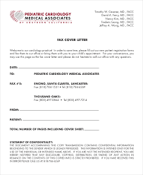 medical associate fax cover letter cover letter for faxing documents