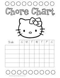 Hello Kitty Reward Chart Free Hello Kitty Chore Chart Chore Chart Kids Charts For Kids