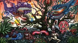 Download trippy backgrounds & psychedelic wallpaper from. Psychedelic Dark Monster Hd Trippy Wallpaper A Wallpaper Wallpapers Printed