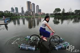 Homemade Amphibious Bicycle Good