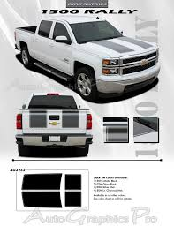 2014 2015 Chevy Silverado Racing Stripes 1500 Rally Edition Hood Decals Truck Vinyl Graphics Kit