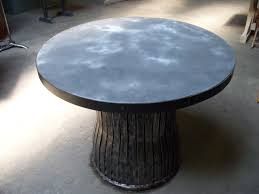round zinc top table 1950 s n y rubbish bin base 1roll 012 jpg