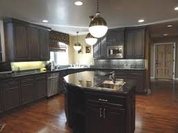 Wall Colors For Kitchen With Dark Cabinets Home Combo Natural Cherry