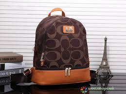 Coach Purse Backpack Travel Shoulder Bag Coffee Men Women