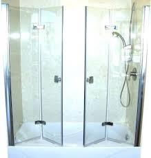 folding glass shower door doors sheen bi fold medium size of types