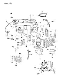 1990 dodge dakota air conditioner heater unit diagram 0000067x