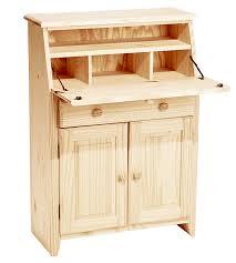 unfinished secretary desk desk storage secretarydesk unfinished solidwoodfurniture