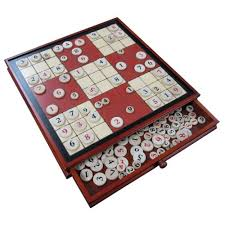 Wooden Sudoku Game Board Ruby Red Wood Sudoku Board Game Set with Drawer Extra Large 100 66