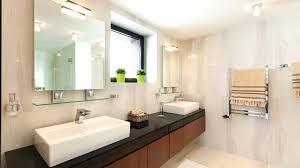 tv behind mirror bathroom diy television framed lectric square vanity marble c