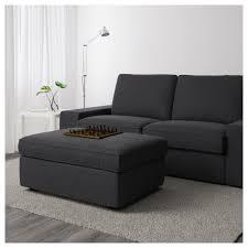 dark grey ottoman kivik with storage orrsta light gray ikea footstool cube square sleeper box fabric