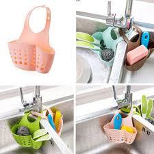 Kitchen Portable <b>Hanging Sponge Holder Drain</b> Bag Basket Sink ...