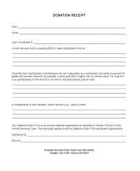 Donation Receipt Form Template Sponsorship Cash Format In Charitable