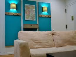 decorate a large blank wall in living room how