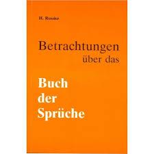Betrachtungen über Das Buch Der Sprüche Henri Rossier
