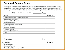 Personal Financial Statement Form Excel Balance Sheet Template Excel ...