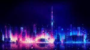 Neon City Rain Drops - cities live ...