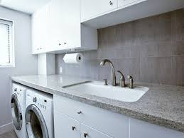 utility sink with countertop. Beautiful Utility Granite Countertops A Utility Sink And Simple White Cabinets Make This  Scandinavian Laundry Room Chic Functional Laundry Day Is Made Easier With  And Utility Sink With Countertop U