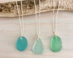 choose your own sea gl necklace beach gl necklace sea gl jewelry genuine sea gl seafoam sea gl aqua sea gl