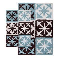 chesapeake merchandising columbia chocolate two piece bath rug set