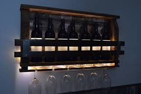 Reclaimed Wood Wine Cabinet Lighted Wine Rack Etsy