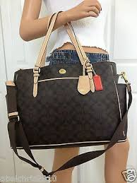 I WANT THIS!!!!!! NWT COACH BROWN BABY DIAPER BAG SIGNATURE LAPTOP ...