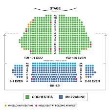 Samuel J Friedman Theatre Large Broadway Seating Charts