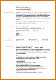 example of simple cv – attendance sheet downloadexample of simple cv  pic graduate financial analyst cv example jpg