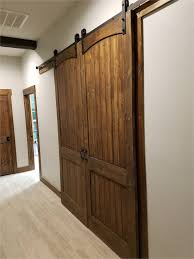 8ft interior barn doors installed a 8ft double sliding barn door on my a room entrance