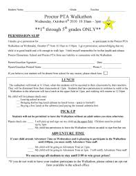 Walk A Thon Form Fillable Online Proctor Cv K12 Ca Bproctorb Pta Walkathon