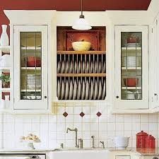 kitchen cabinet plate rack storage
