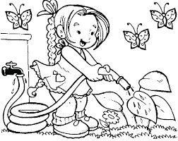 Coloring Pages Kid Paint Coloring Vector Of Boy Spray Painting