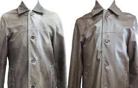 before after leather clothing often requires specialist refinishing as well as restorative cleaning to re the complexion and colour